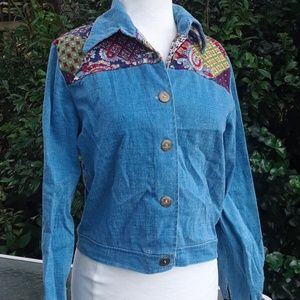 d816941ab40 70s denim boho hippie jacket X small small